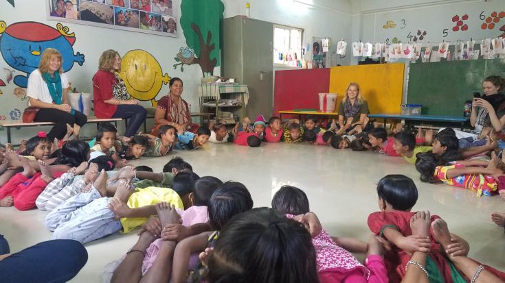Preschoolers Stretching